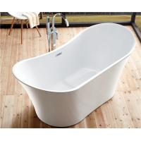 Quality Back To Wall White Slipper Soaking Tub , 5 Ft Freestanding Soaking Tub Indoors for sale