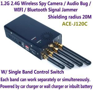 1.2G 2.4G Wireless Spy Camera Audio Bug WIFI Bluetooth Signal Jammer Blocker Single Switch Manufactures