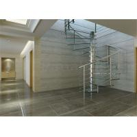 Modern Residential Space Saving Spiral Staircase , Loft Spiral Staircase No Welding Manufactures