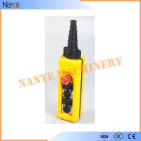 Yellow / Black ABS Waterproof IP65 Hoist Pendant Control Crane Remote Control Manufactures