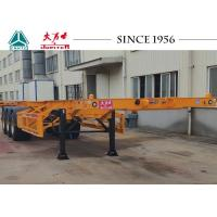 40 FT Tri Axles Skeletal Container Trailer With Superior Carrying Capacity Manufactures