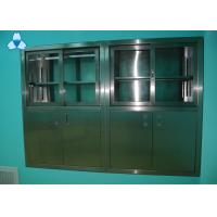 Drug Storage Hospital Air Filter Stainless Steel Medical Cabinets With Manual Sliding Half - Glass Door Manufactures