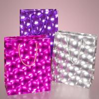 3D Bubble Embossed Jewelry Gift Bags Flat Paper Handle Durable For Promotion Manufactures