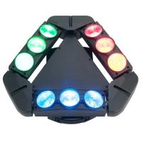 Disco Lighting 9 Heads 10W 4 IN 1 LED Spider Moving Head Beam Light Energy Saving  X-93 Manufactures