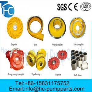 OEM Corrosion Resistance Slurry Pump Parts Manufactures