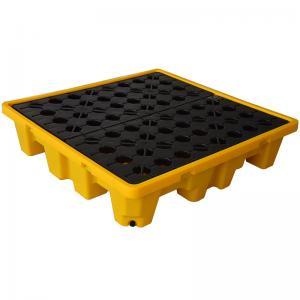 HDPE Oil Drum Spill Containment Pallet  , PE 4 Drum Spill Containment Platform Manufactures