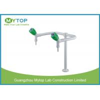 Laboratory Fittings Double Way Brass Water Faucet with Glossy Epoxy Coating Manufactures