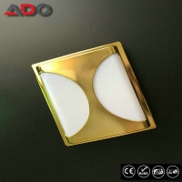 IK09 Wall Mounted 90LM/W Waterpoof Golden Square PP LED Bulkhead Lamp 20W Manufactures