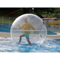 Clear 2m Inflatable Human Hamster Ball , Backyard Pool Water Sphere Ball Manufactures