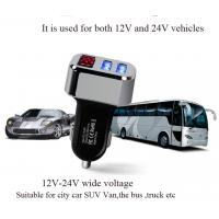 3.1A dual usb car charger with led display factory Manufactures