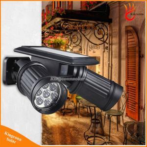 China 14LEDs Waterproof Solar Wall Light LED Solar Lamp PIR Motion Sensor Light Dual Head Spotlight on sale