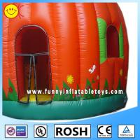 Full Printing Lovely Inflatable Pumpkin Bouncer Blow Up Obstacle Course Manufactures