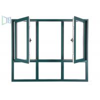 International Style Aluminium Casement Windows Fly Mesh For Hospitals / School Manufactures