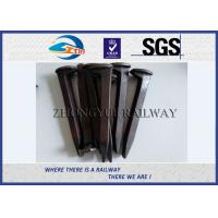 Plain Finished Q235 Railroad Track Spikes Rail Screw Dog Spike For Rail Fastening System Manufactures