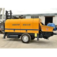 Compact Structure Trailer Mounted Concrete Pump 30 Times / Min Delivery Speed Manufactures