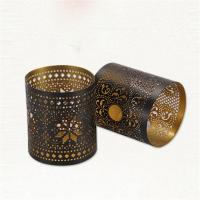 Steel Metal Stamping Service Custom Shape With Star And Blank Hollow Out Round Tealight Candle Holder Manufactures