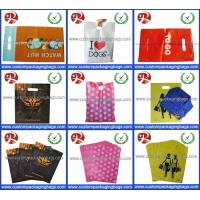 Quality Factory Wholesale Glossy LDPE Die Cut Handle Plastic Retail Merchandise Bags for sale