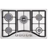 5 Ring Gas Hob Stainless Steel , Five Burner Gas Stove With Cast Iron Pan Supports Manufactures