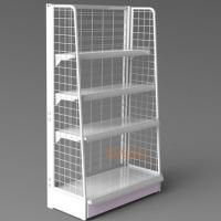 White Metal Display Racks/ Floor Displays Retail Snack Daily Commodity Promotion Manufactures