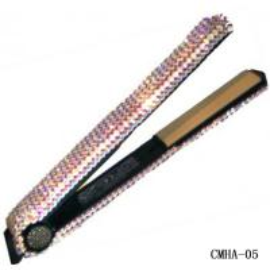 Clear AB Swarovski Crystal Hair Straightener-Hair Salon Equipment Manufactures