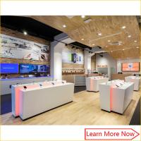 Quality Retail modern display custom interior design mobile phone shop dispaly for sale