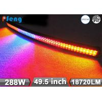 """Curved 49.5"""" 288w Amber and white Flashing Led Light Bar For 4X4 Manufactures"""