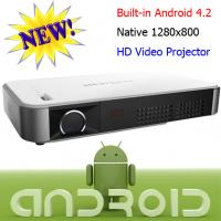 China Real 720P Android Wifi Wireless Projector For Cinema Office Using 2D To 3D Proyector on sale