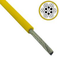 Colored 2.5mm - 3.5mm Galvanized Steel Wire Rope 7x7 Yellow Pvc Coated Manufactures