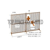"Quality Construction Security Temp Fence Panels 6ft x 10ft 1830*3050mm Spacing 4""x12'(100mm*300mm) Akzol Powder Coated 25mm*1.6 for sale"