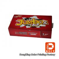 Corrugated Cardboard Fast Food Boxes Packaging Recyclable Red Varnish Coating Printing Manufactures