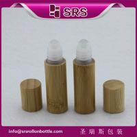 Buy cheap SRS 5ml bamboo roller ball bottle, bamboo roll on bottle with plastic ball from wholesalers