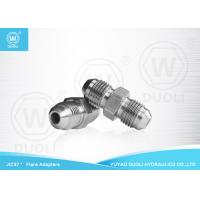 China Hydraulic JIC Male 37° Cone Flare Fittings , Hydraulic Hose Adapter Fittings on sale