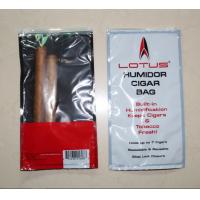 Quality Resealable Plastic Humidification Cigar Bag With Window W155 x L265mm for sale