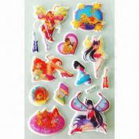 EVA Foam Stickers, OEM Orders are Welcome, Used for Album and Notebook Manufactures