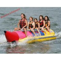 5 Person Inflatable Water Towable Banana Boat Rentals For Adults / Kids Manufactures