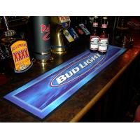 Custom self logo eco-friendly rubber soft nice pvc bar mat with logos Manufactures