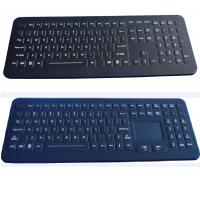 Quality IP65 106 keys black USB customized ruggedized silicone rubber medical keyboard for sale
