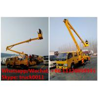 2018s new good price RHD DONGFENG 14m 1-6m aerial platform truck vehicle in Tanzania for sale, overhead working truck Manufactures