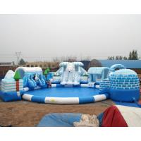high quality snow design inflatable water park for kids and adult on land Manufactures