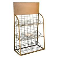 3 Tiers Custom Metal Display Shelf Logo Printing Acceptable for Exhibiting Manufactures