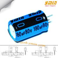Buy cheap 80V 180uF 12.5x16mm Capacitor LKL Series 130°C 2,000 ~ 5,000 Hours Radial Aluminum Electrolytic Capacitor RoHS from wholesalers