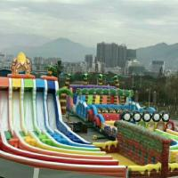 80 M Long PVC Tarpaulin Inflatable Jungle Fun Games For 100 Person Manufactures