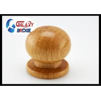 Painted Round Wooden Drawer Knobs Dresser Pulls 25mm Height  Simple Door Handles Wooden Furniture Fittings Manufactures