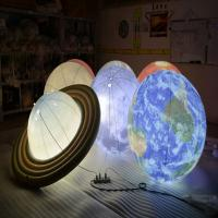 Quality 1m Inflatable Advertising Balloons / LED Lighting Universal Globe for Decoration for sale