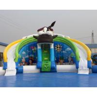 Quality Best price summer fun kids games killer whale design inflatable water park with free air blower for sale