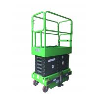 Platform Height 6m , Loading Capacity 300kg MINI Manual Pushing Mobile Scissor Lift with Outriggers Manufactures