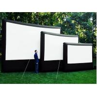 Customized 0.9 Mm PVC Tarpaulin Frame Inflatable Blow Up Movie Screen EN71 Manufactures