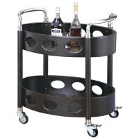 Room Service Equipments Oval Liquor Trolley Restaurant Supply Equipment For Restaurant Manufactures