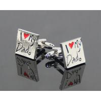 Best selling fashion wholesale metal silver plated square cuff link Manufactures