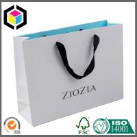 Promotion Color Print Paper Bag; Matte Color Shopping Paper Bag Ribbon Handle Manufactures